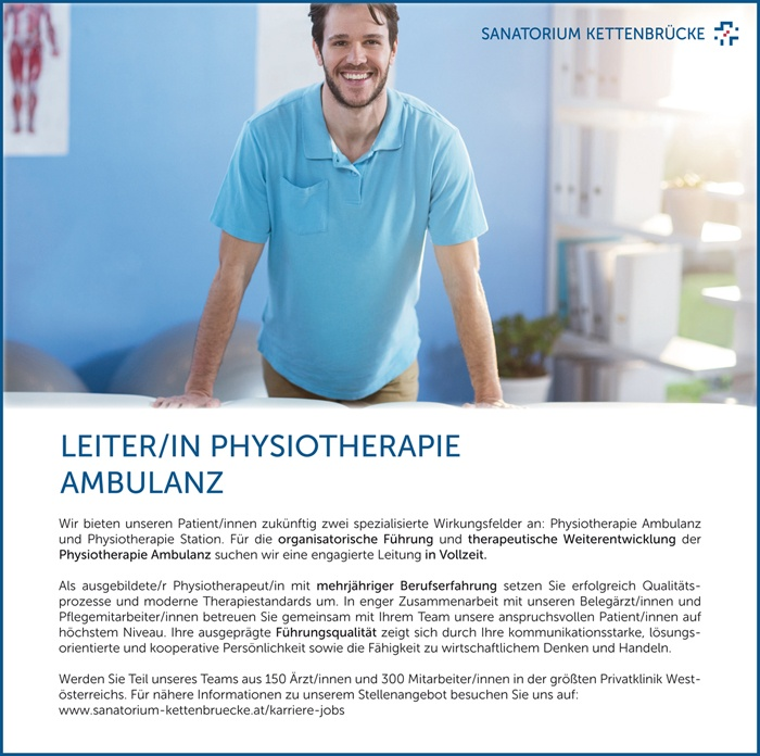 LEITER/IN PHYSIOTHERAPIE AMBULANZ