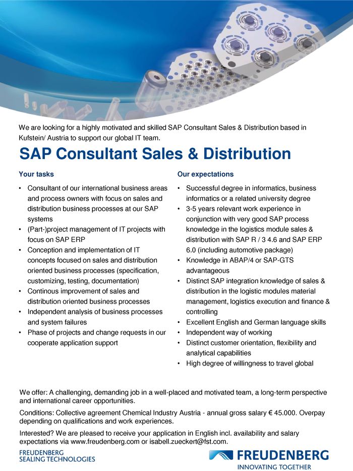 SAP Consultant Sales & Distribution