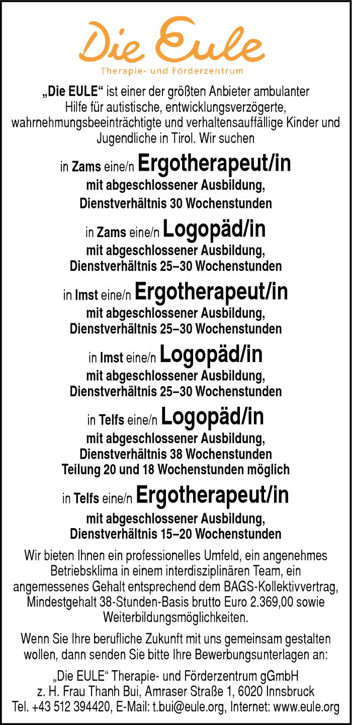 Ergotherapeut/in, Logopäd/in