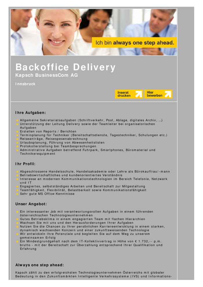 Backoffice Delivery