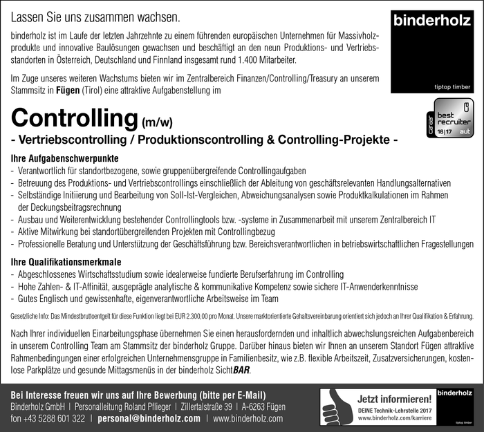 Controlling (m/w)