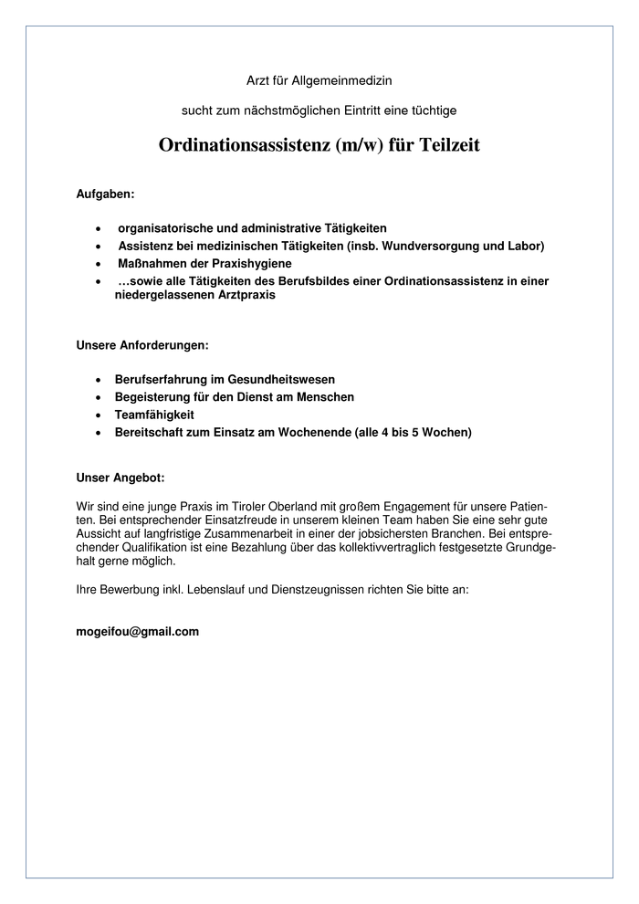 Ordinationsassistenz