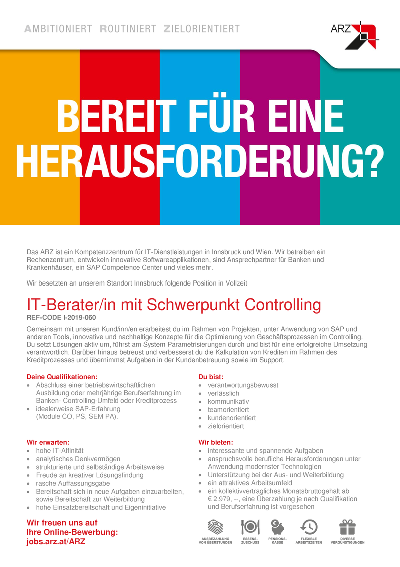 IT-Berater/in mit Schwerpunkt Controlling