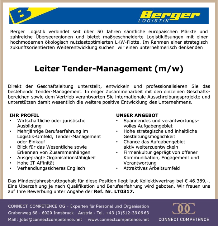 Leiter Tender-Management (m/w)