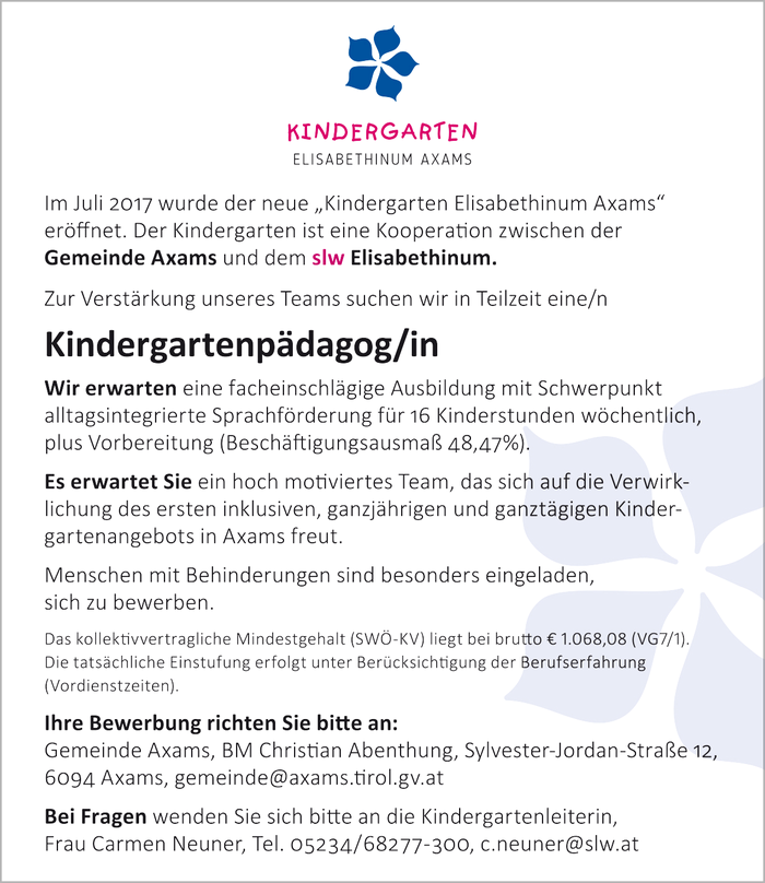 Kindergartenpädagog/in