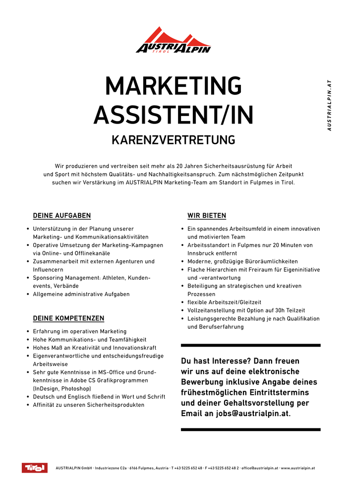 MARKETING ASSISTENT/IN