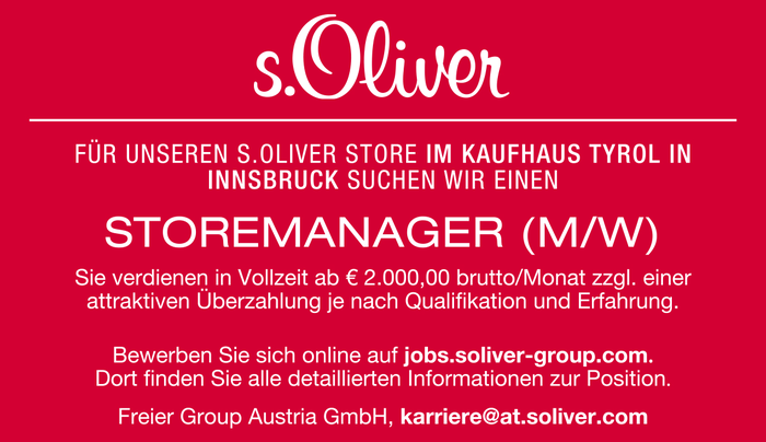 STOREMANAGER (M/W)