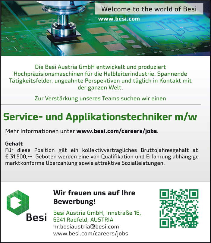 Service- und Applikationstechniker m/w