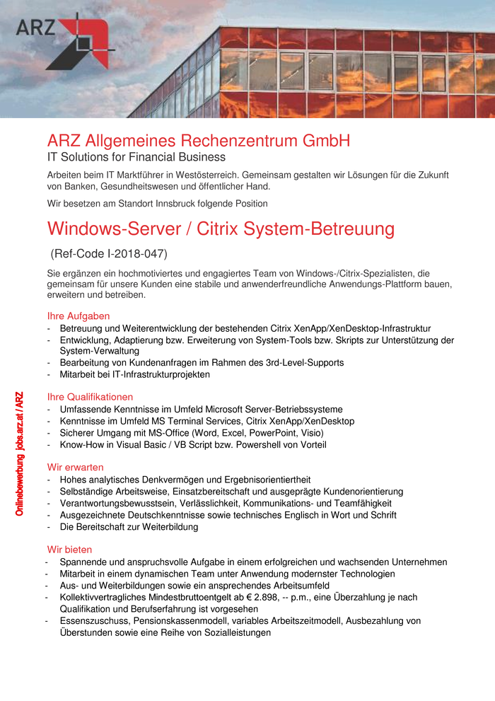 Windows-Server / Citrix System-Betreuung