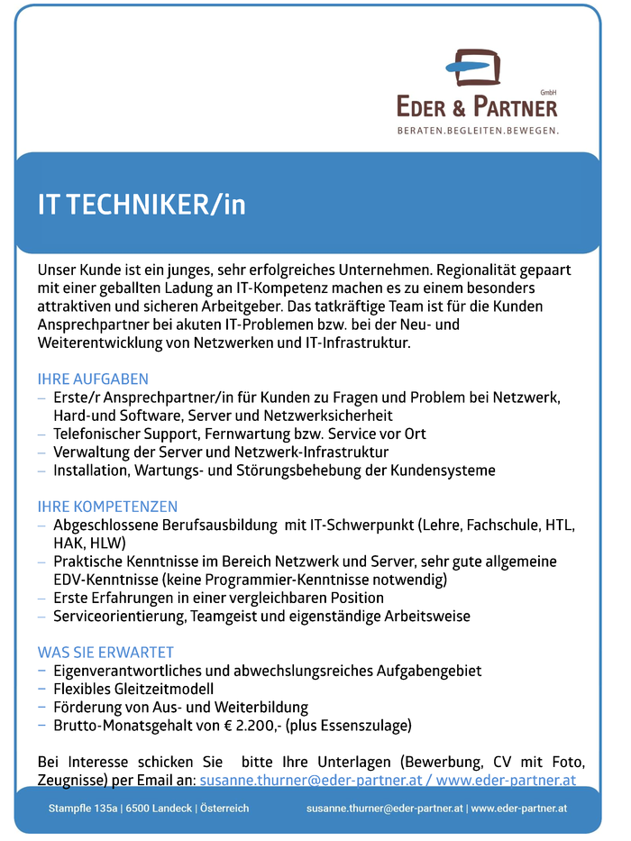 IT TECHNIKER/in