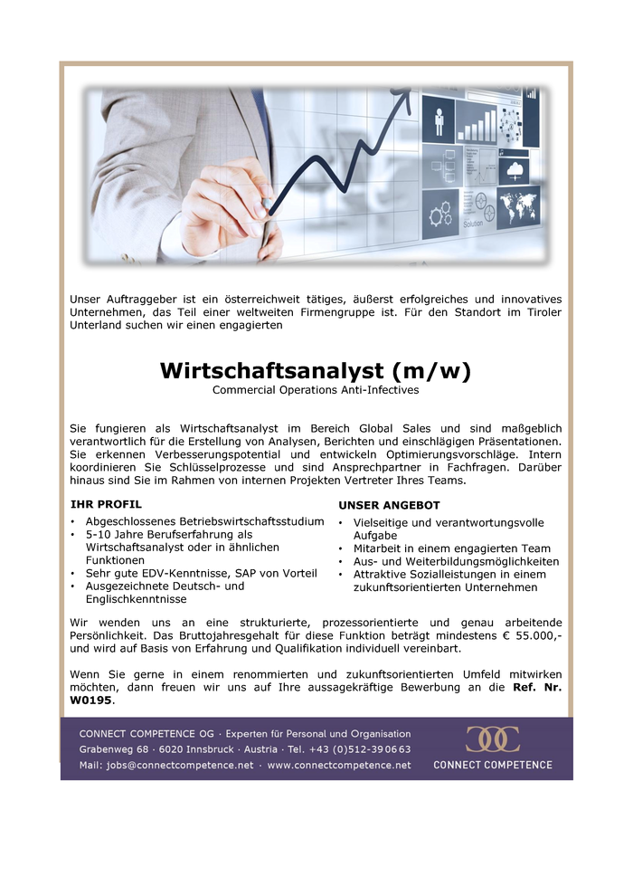 Wirtschaftsanalyst (m/w) Commercial Operations Anti-Infectives