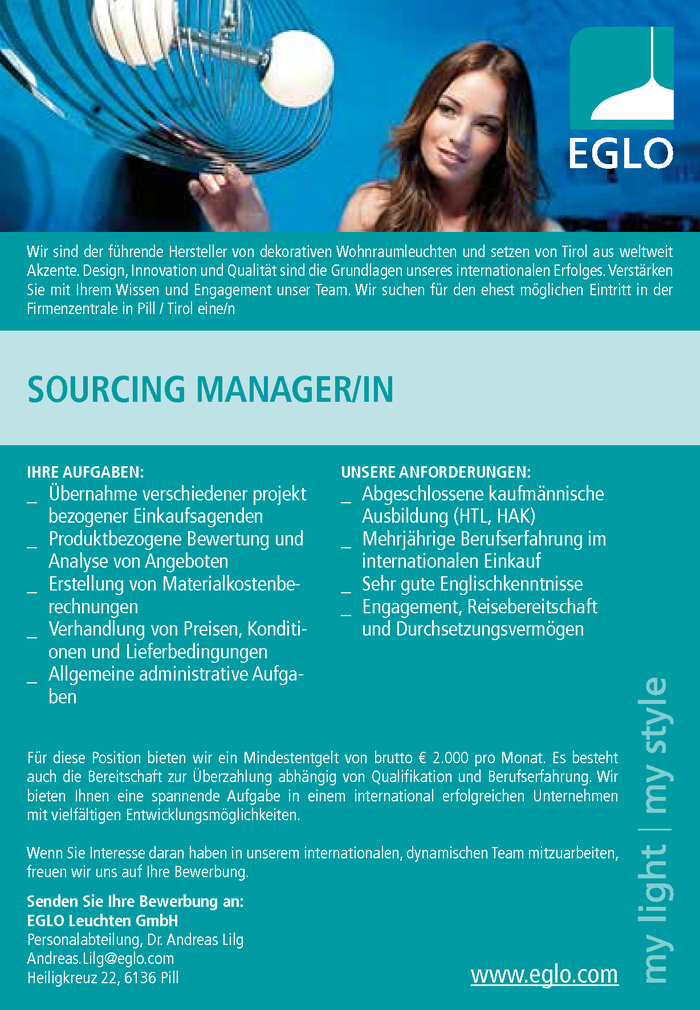 Sourcing Manager/in