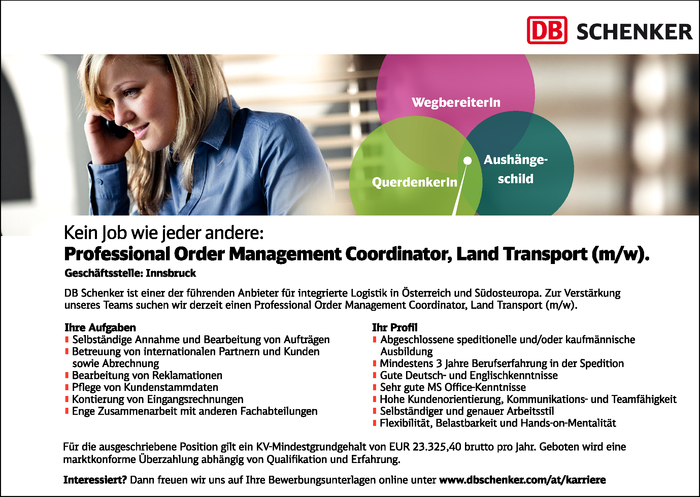 Professional Order Management Coordinator, Land Transport (m/w)