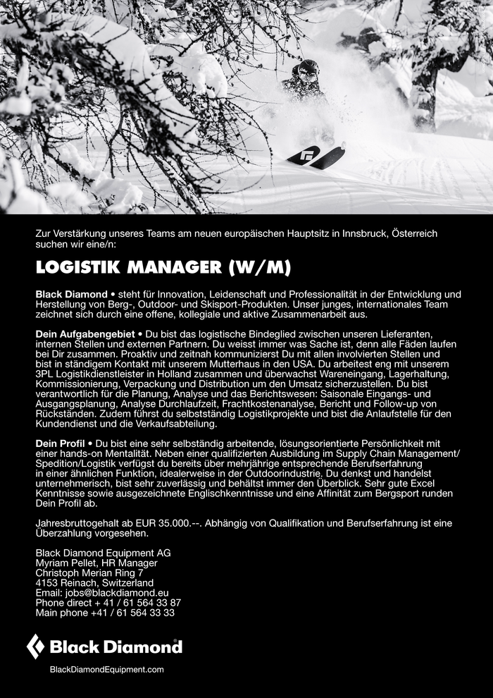 Logistik Manager (w/m)