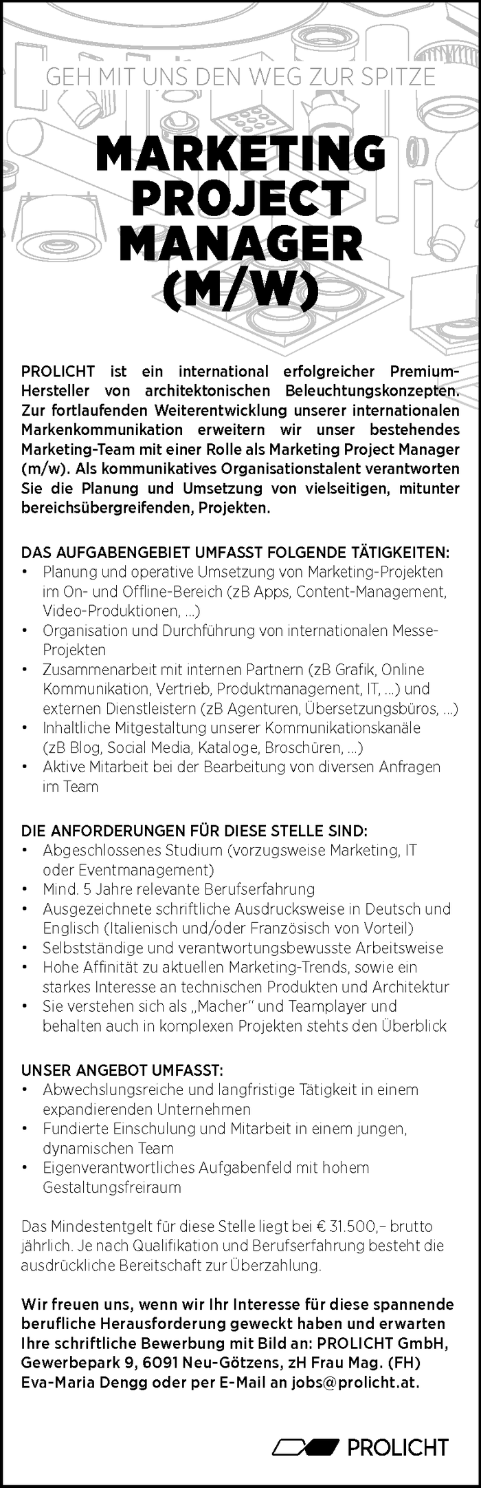 Marketing Projekt Manager (m/w)