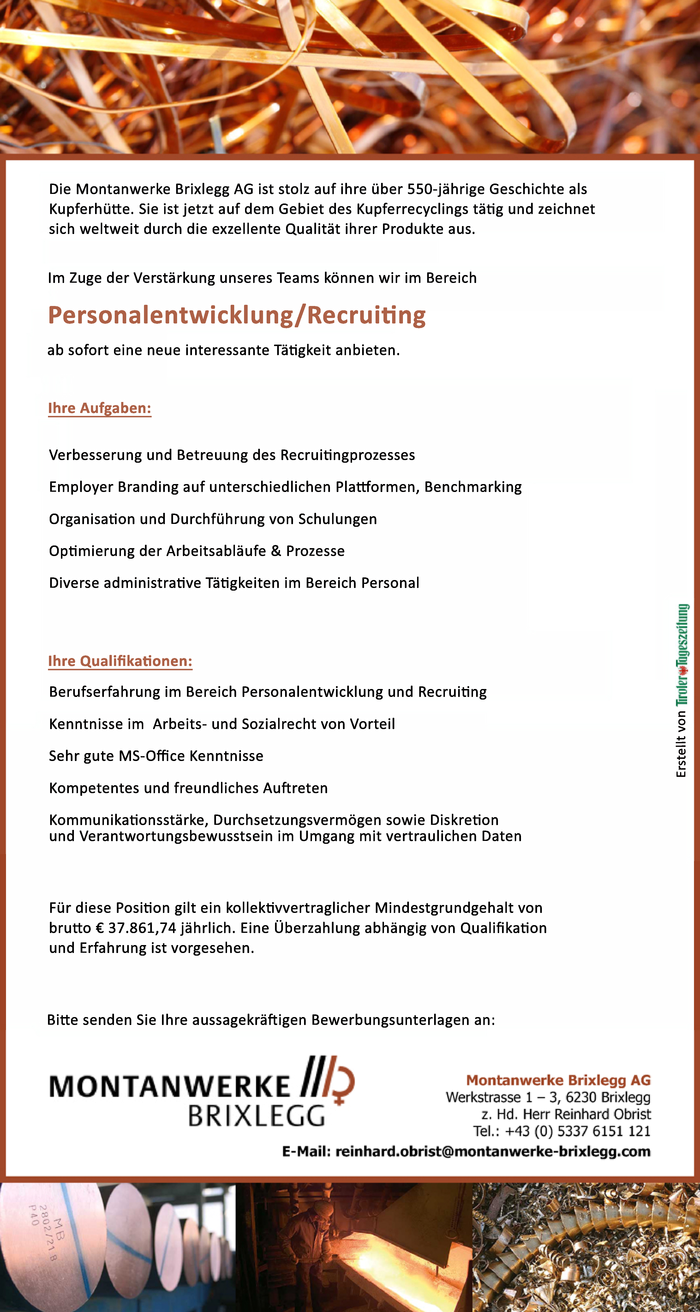 Personalentwicklung/Recruiting