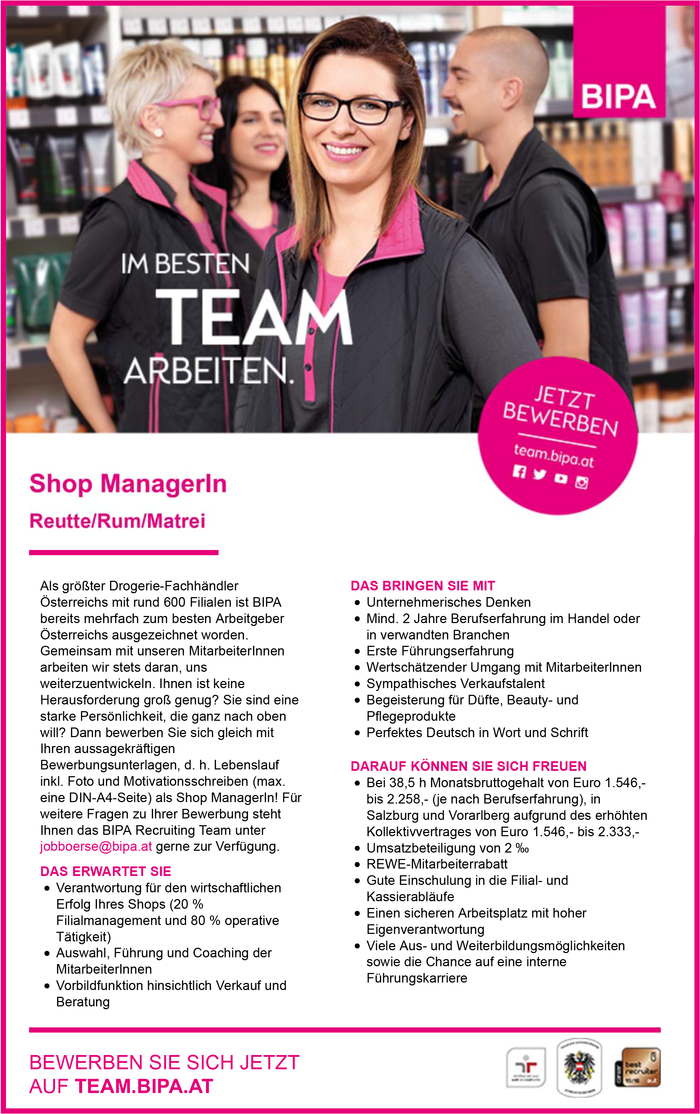 Shop ManagerIn