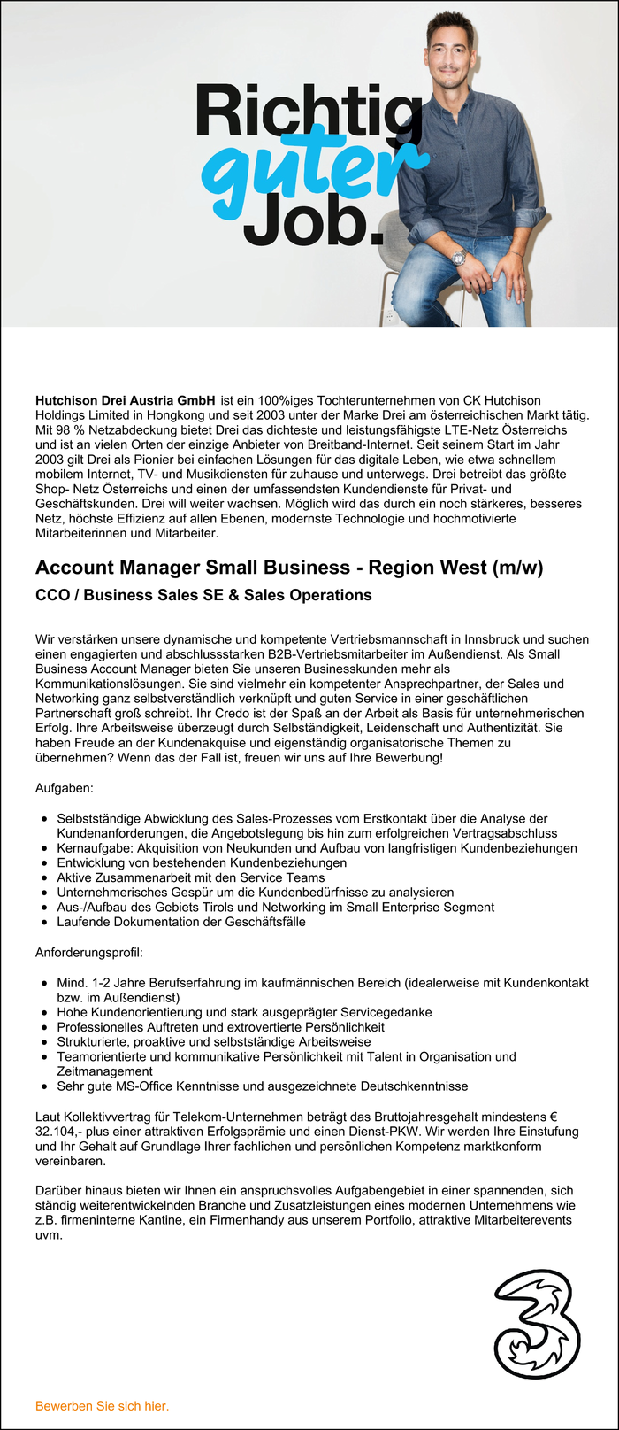 Account Manager Small Business - Region West (m/w)