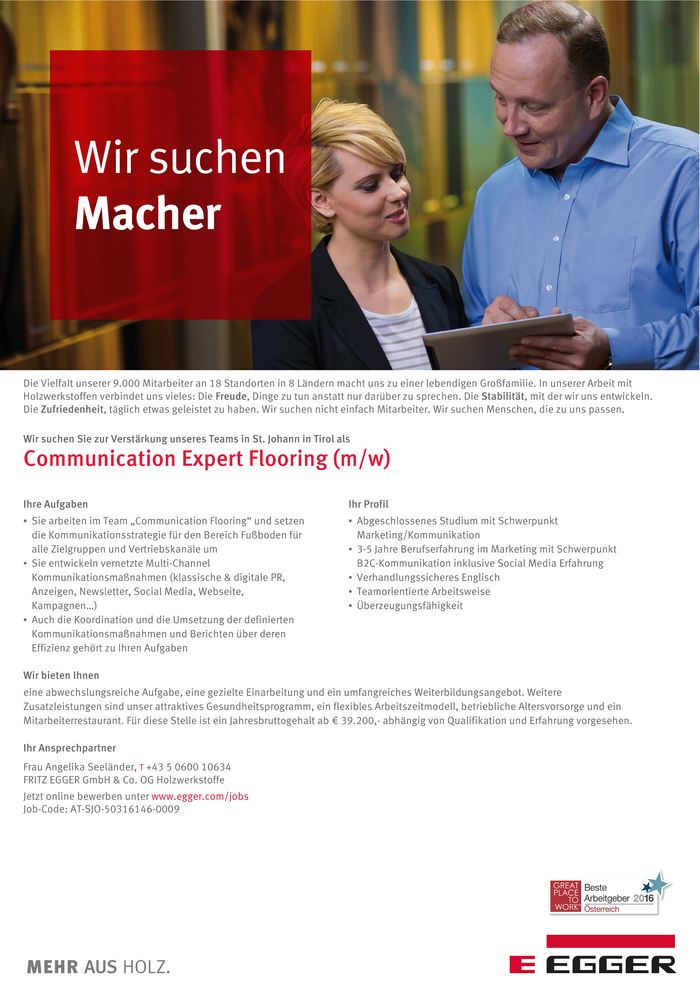 Communication Expert Flooring (m/w)