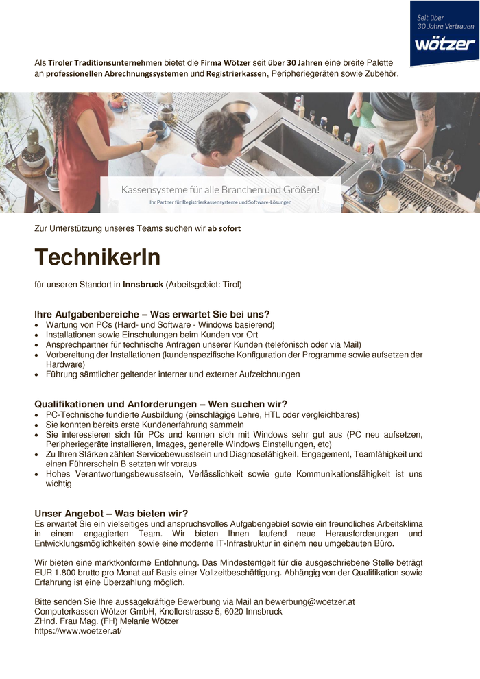 Techniker/in
