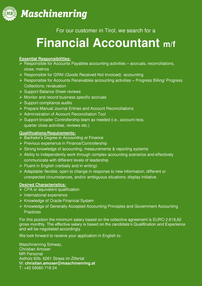 Financial Accountant m/f
