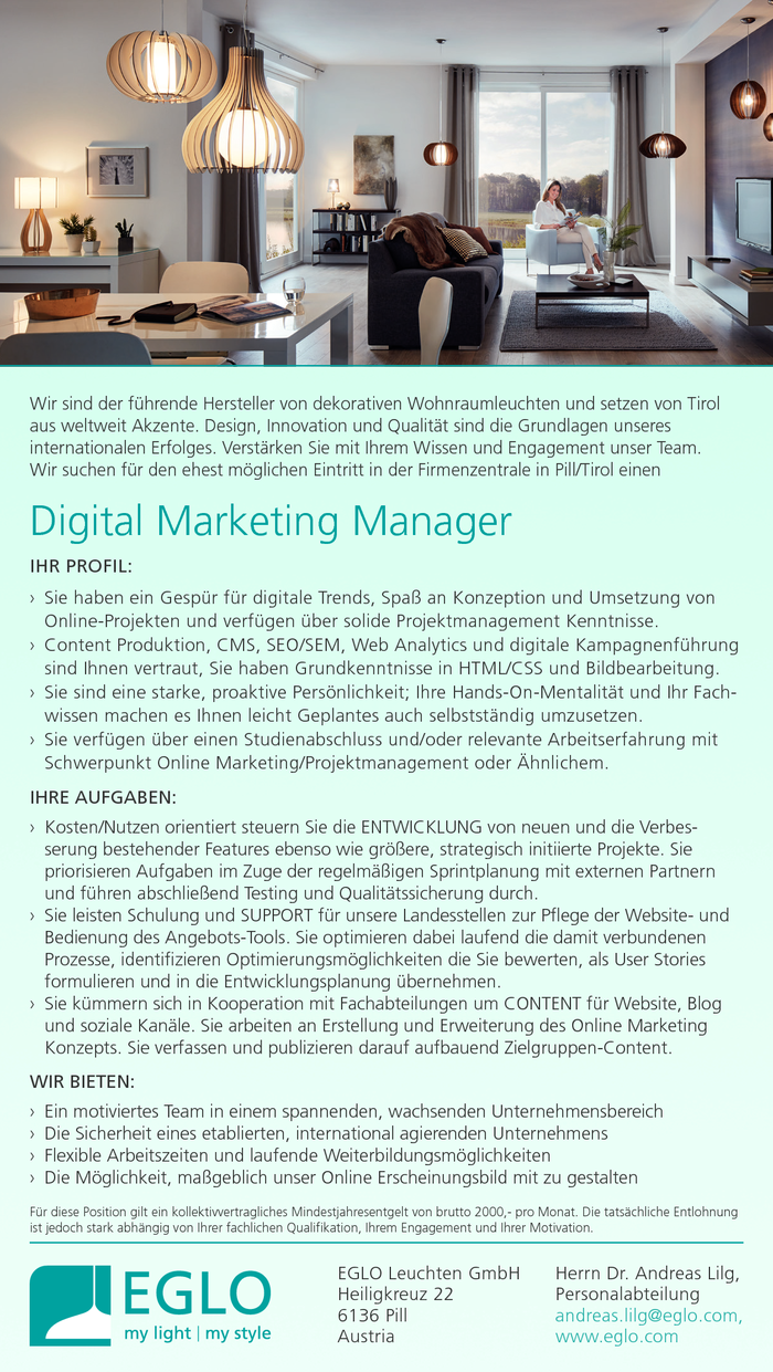 Digital Marketing Manager (w/m)