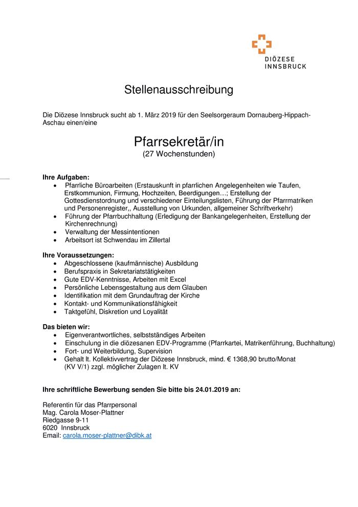 Sekretärin Im Bezirk Schwaz Bewirb Dich Auf Offene Stellenangebote