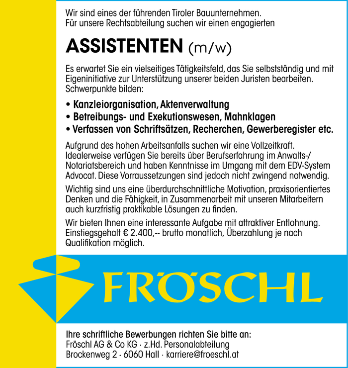 Assistent (m/w)