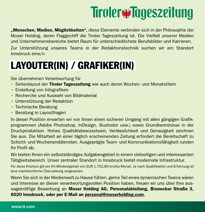 Layouter(in) / Grafiker(in)
