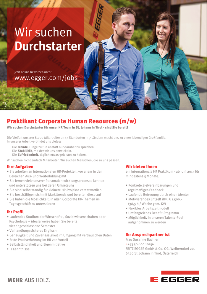 Praktikant Corporate Human Resources (m/w)