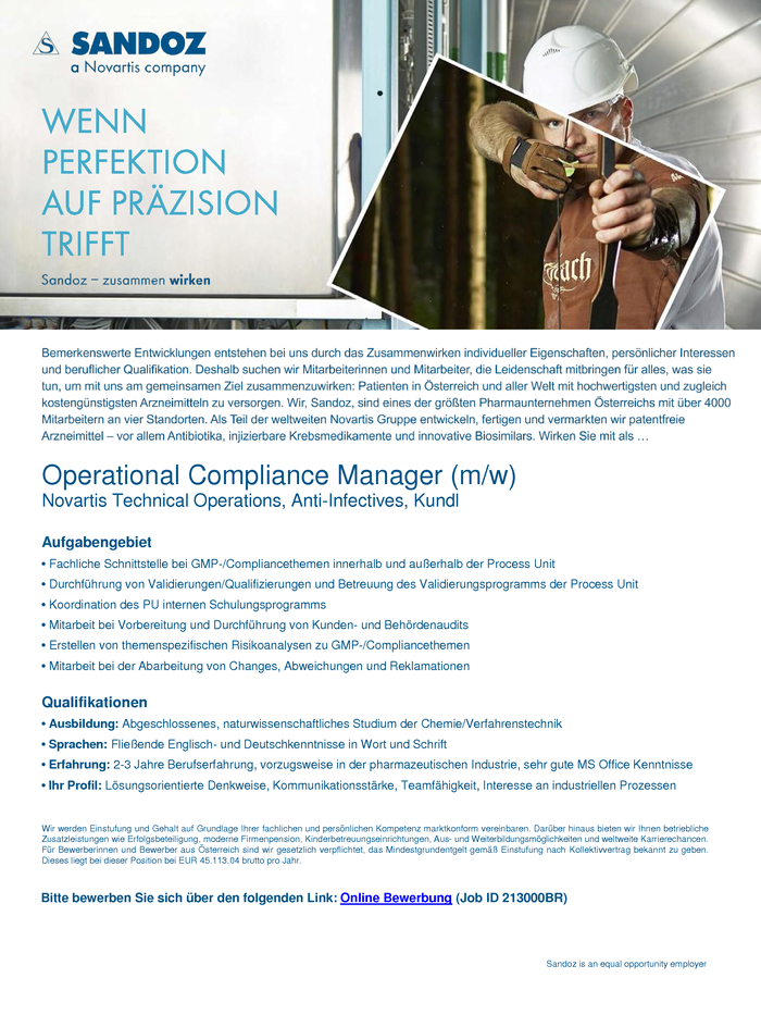 Operational Compliance Manager (m/w)