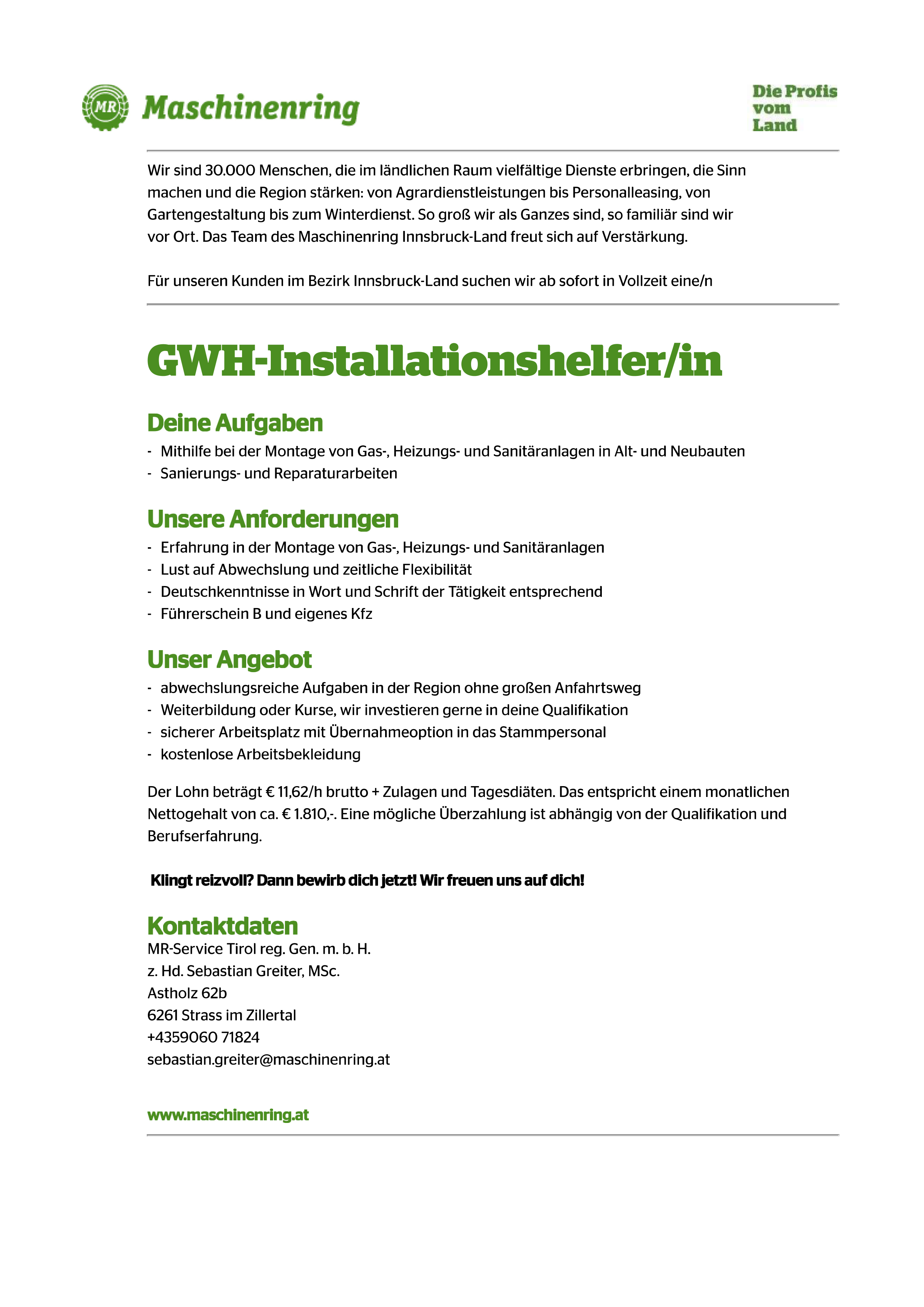 GWH-Installationshelfer/in