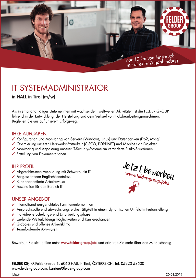 IT SYSTEMADMINISTRATOR