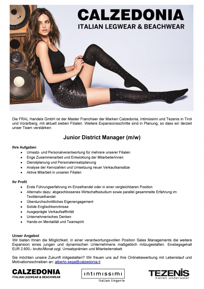 JUNIOR DISTRICT MANAGER (m/w)