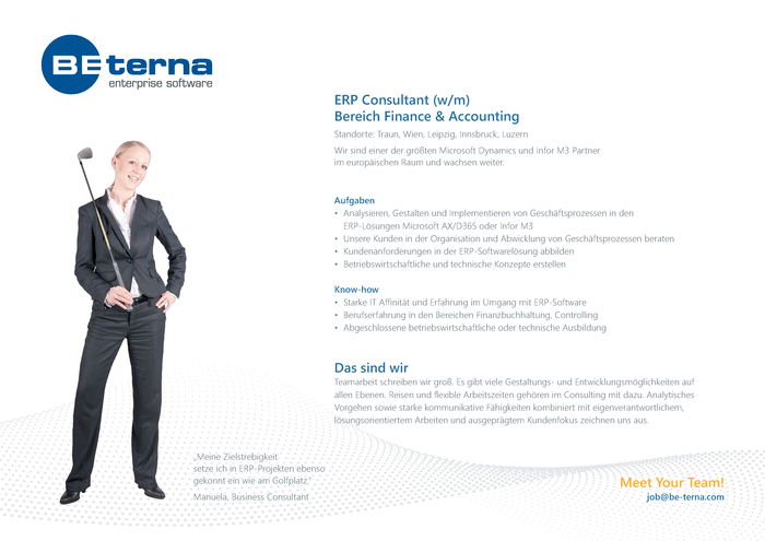 ERP Consultant, Bereich Finance & Accounting (w/m)