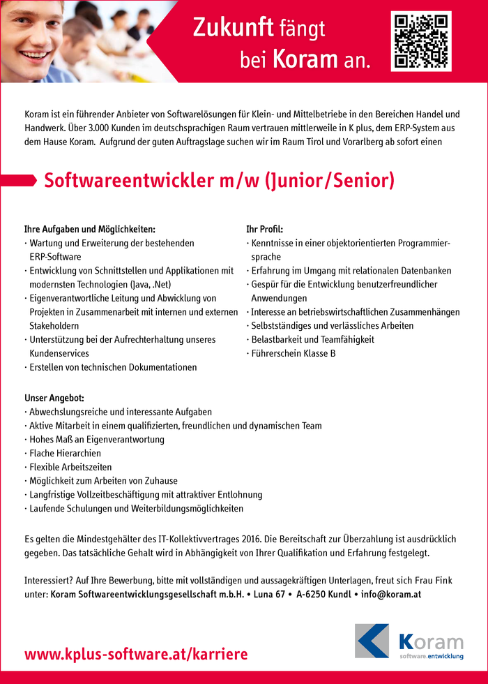 Softwareentwickler (Junior/Senior)