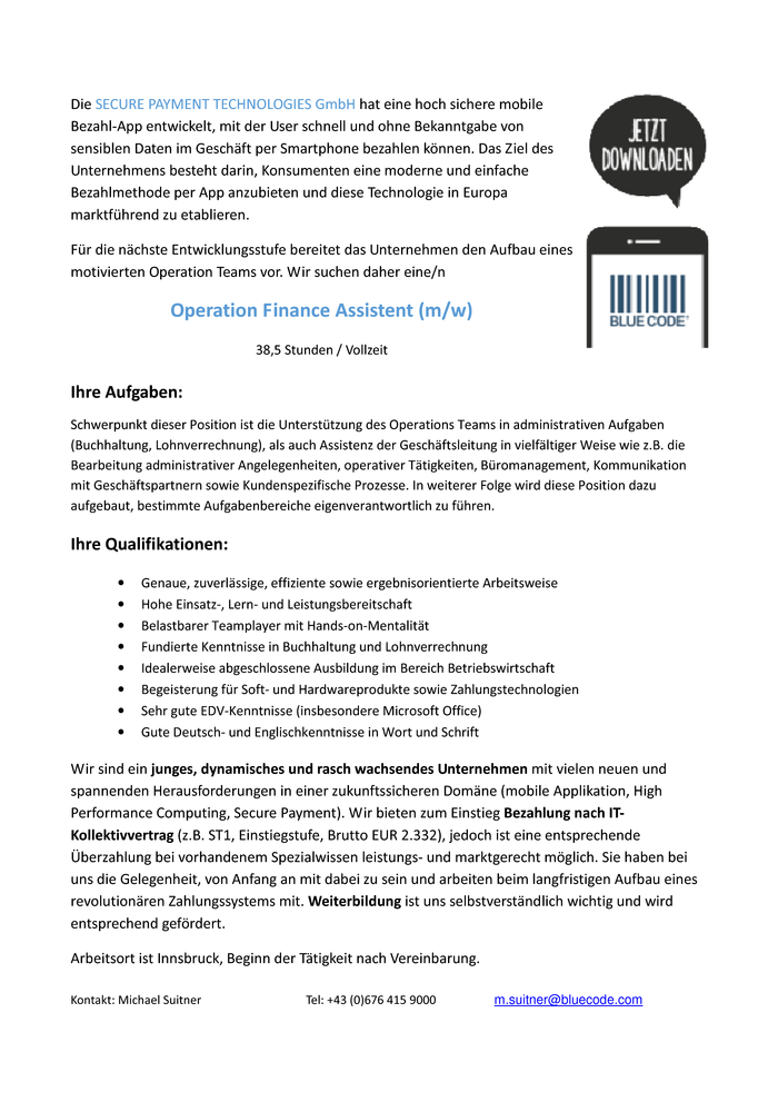 Operation Finance Assistent