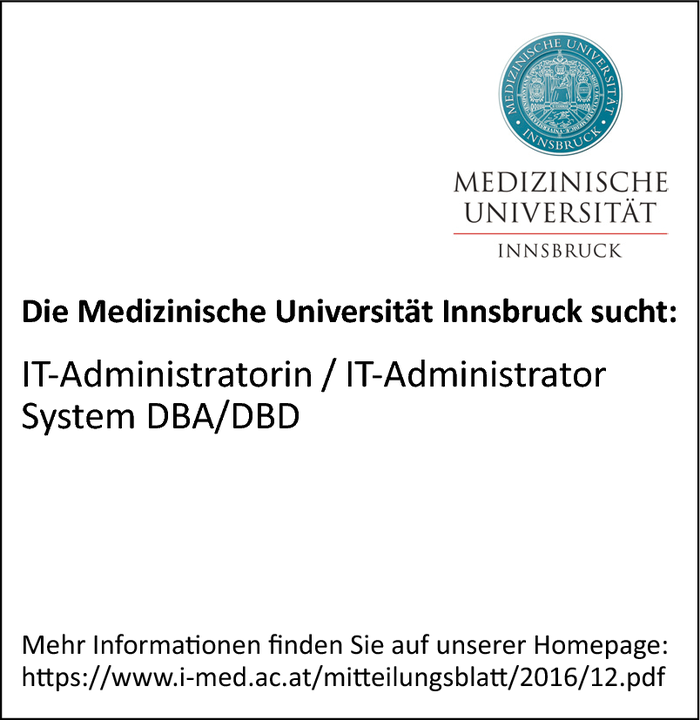IT-Administratorin / IT-Administrator System DBA/DBD