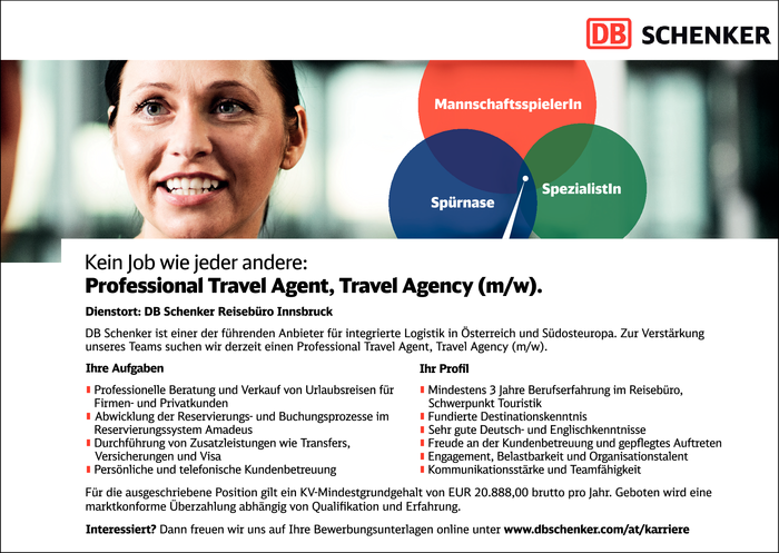Professional Travel Agent, Travel Agency (m/w)