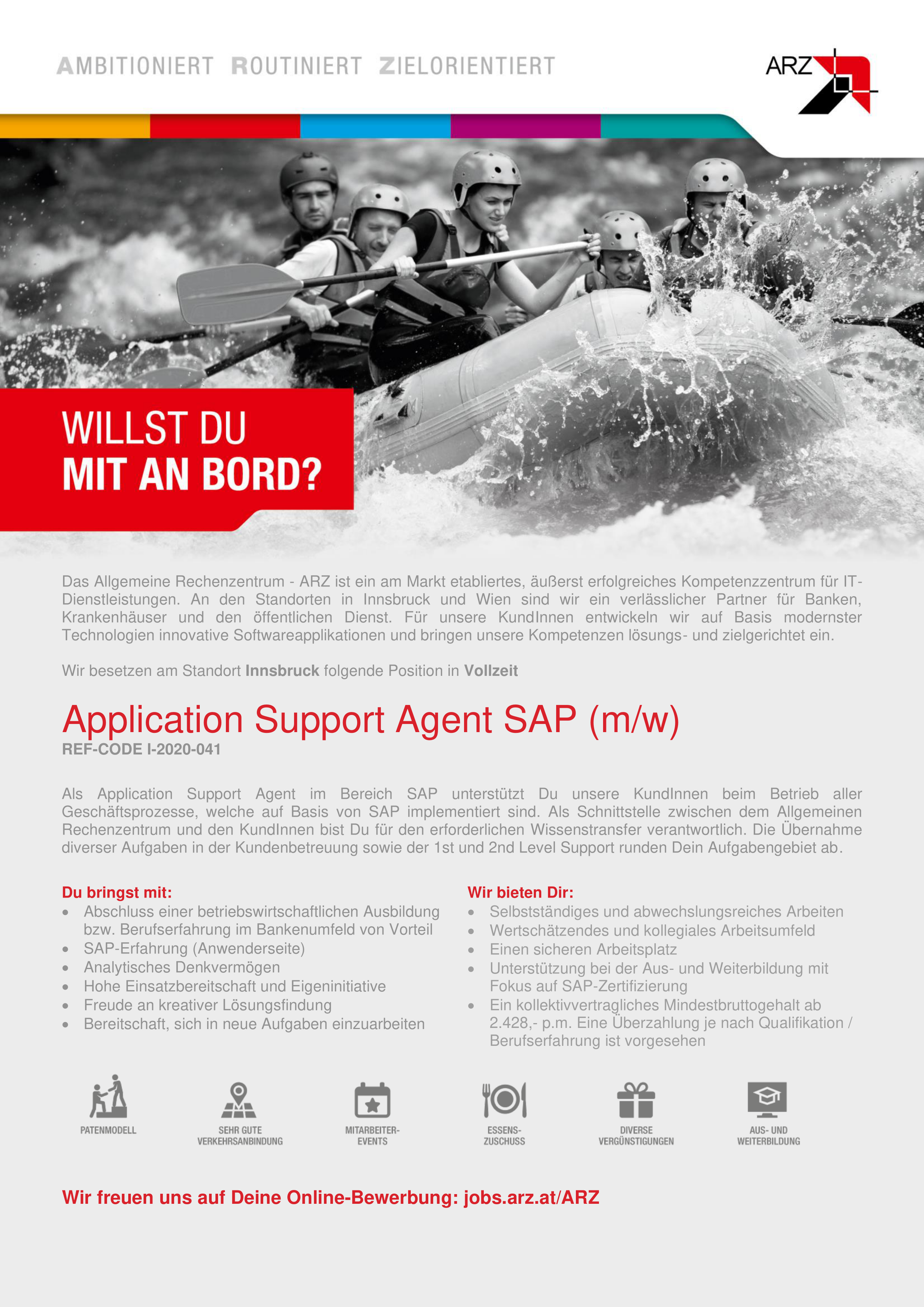 Application Support Agent SAP (m/w) Ref-Code I-2020-041