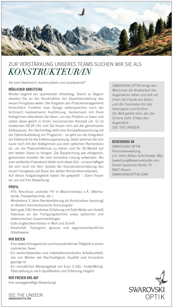 KONSTRUKTEUR/IN
