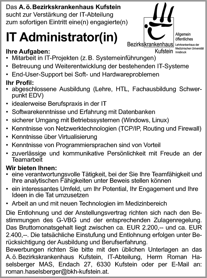IT Administrator(in)