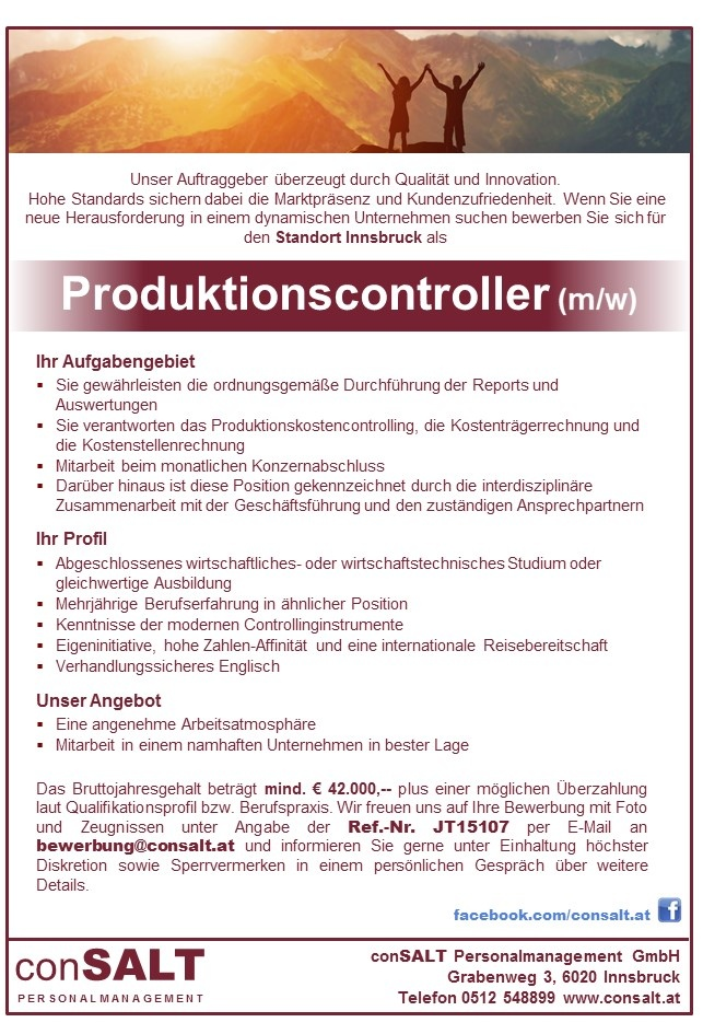 Produktionscontroller/in