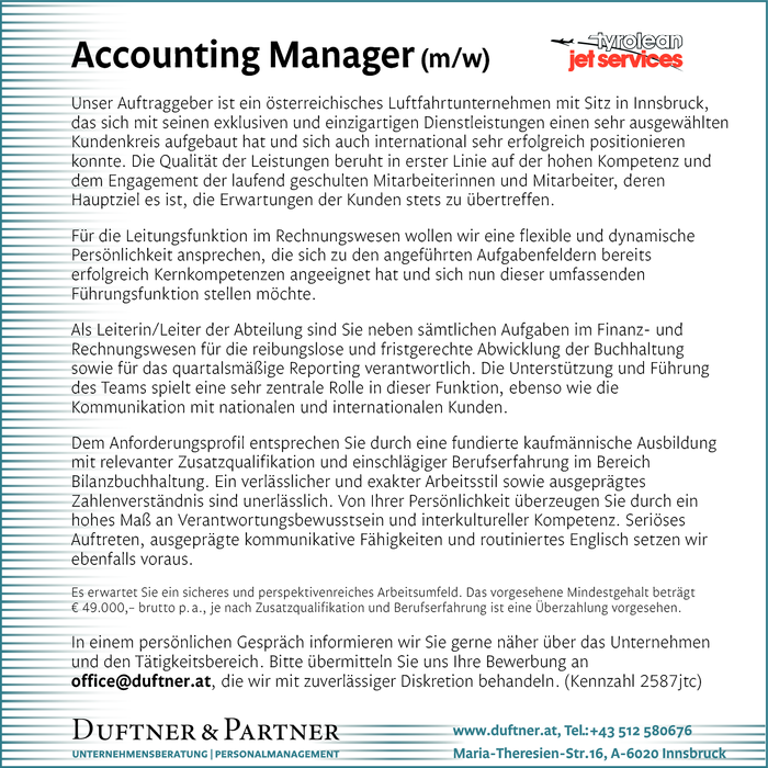 Accounting Manager (m/w)