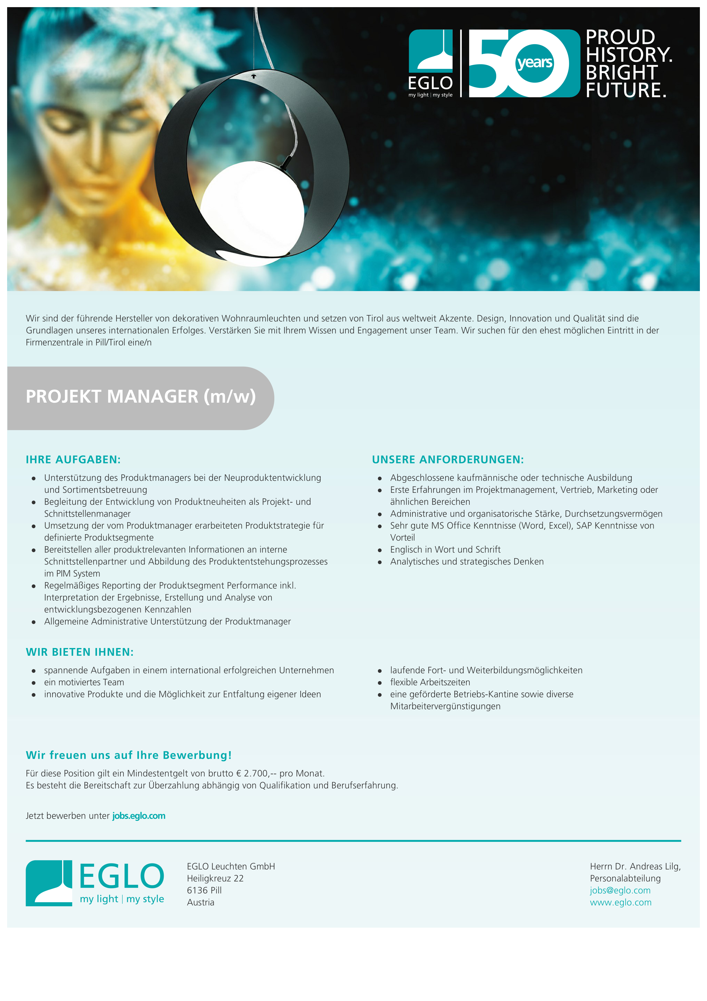 PROJEKT MANAGER (m/w)