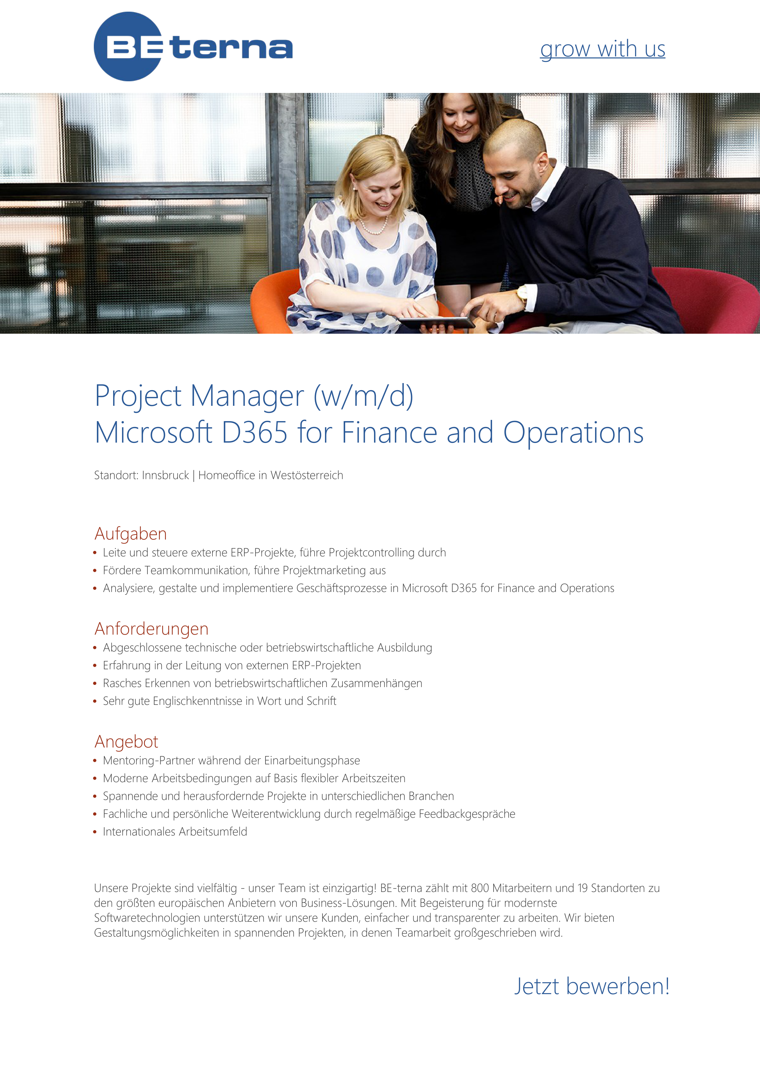 Project Manager (w/m/d) Microsoft D365 for Finance and Operations