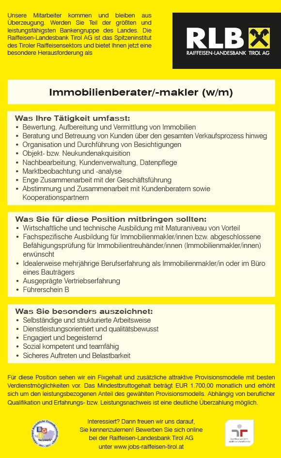 Immobilienberater/-makler (w/m)