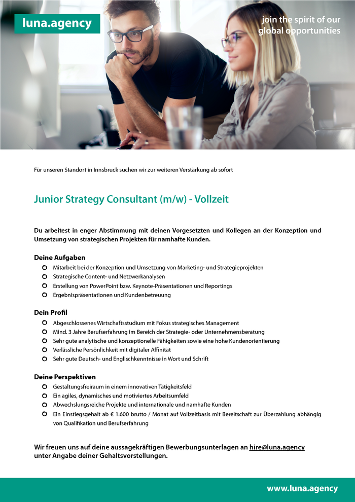 Junior Strategy Consultant (m/w)
