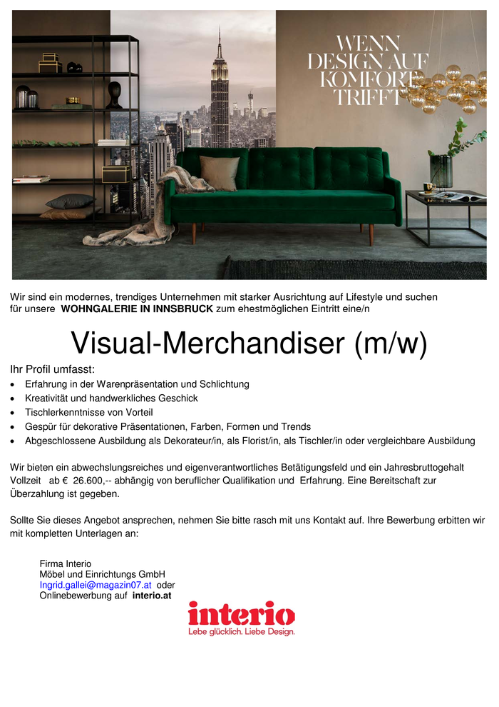 Visual-Merchandiser (m/w)