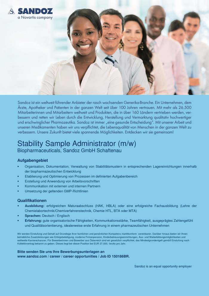 Stability Sample Administrator (m/w)